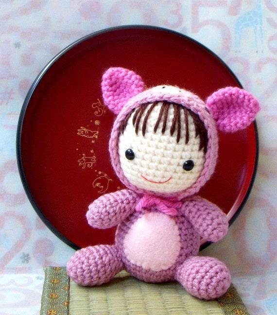Amigurumi Crochet Patterns Baby : Crochet Amigurumi Pattern Zodiac Pig Baby amigurumi doll