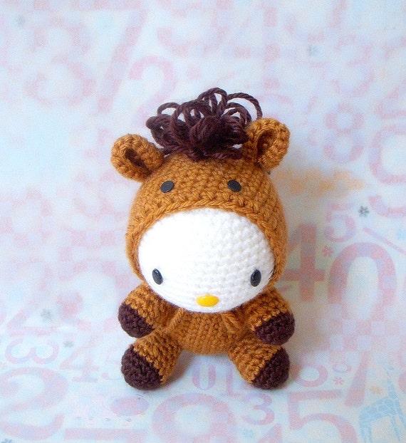 Amigurumi Year Of The Horse : Amigurumi Pattern - Zodiac Horse Kitty - Crochet amigurumi ...