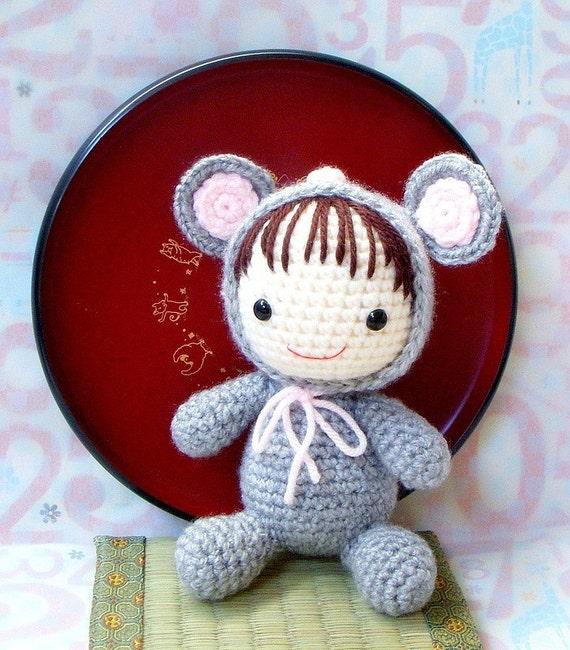 Amigurumi Pattern Zodiac Rat Baby Crochet amigurumi doll