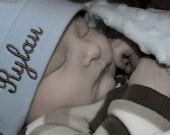Infant or Toddler custom  monogrammed Beanies Zebra, white, pink, brown, black, red, purple
