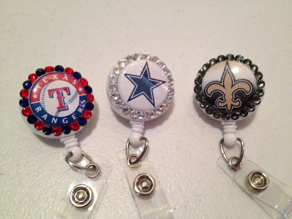 Sports Team Jeweled Badge Reels