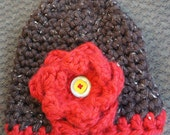Cloche hat and scarf set, soft & chunky. The falling leaves bring the cool breeze.  Teen/Adult size.
