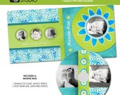 Maddie Mae -- CD case template and DVD template -- mpixpro and whcc specs -- matching  kit -- templates for photographers