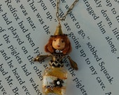 "Jordan - A Miniature 2 1/2"" Petite Perfume Bottle Art Doll and Necklace"