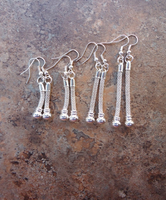 Add-a-Bead Earring Blanks for European Beads -- Medium and Long Sizes