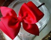 Large Bow Headband Fascinator in Red Boutique Photo Prop Headband
