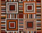 Silk Striped Miniature Quilt/Wall Hanging