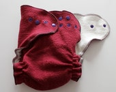 ON SALE One Size Organic Hemp/Cotton fitted diaper