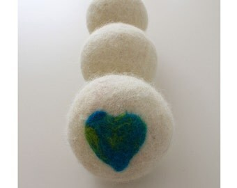 Wool Felted Dryer Balls set of 3