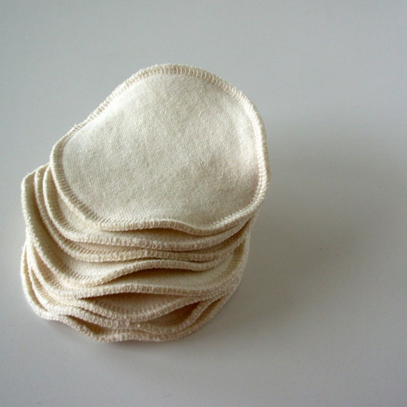 4 Pair of Organic Hemp/cotton nursing pads