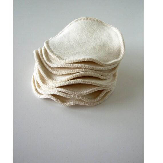 4 Pair of Organic Hemp/cotton nursing pads