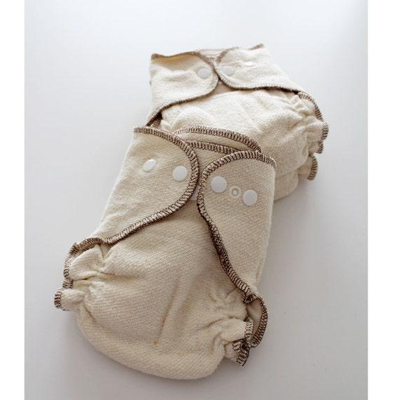 Newborn Organic Hemp/Cotton Cloth diapers set of 3
