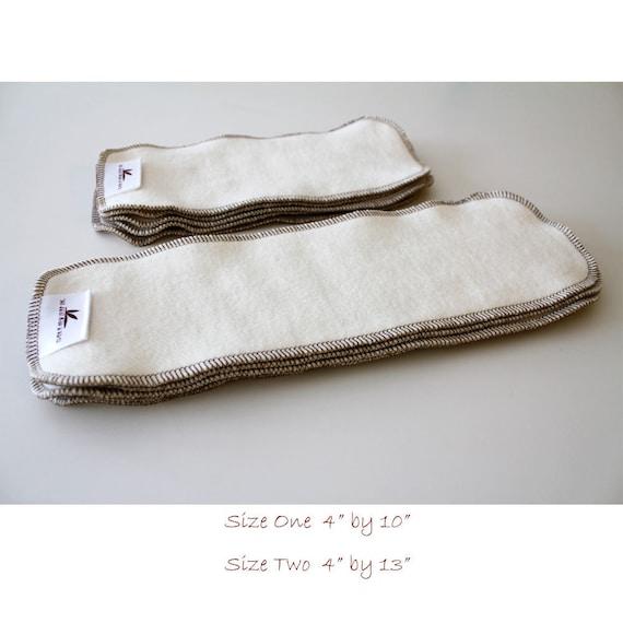 Certified Hemp Fleece/Terry diaper liners 6 pack
