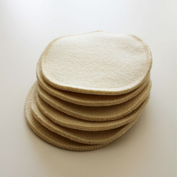 3 SETS Organic wool with hemp nursing pads, breast pads