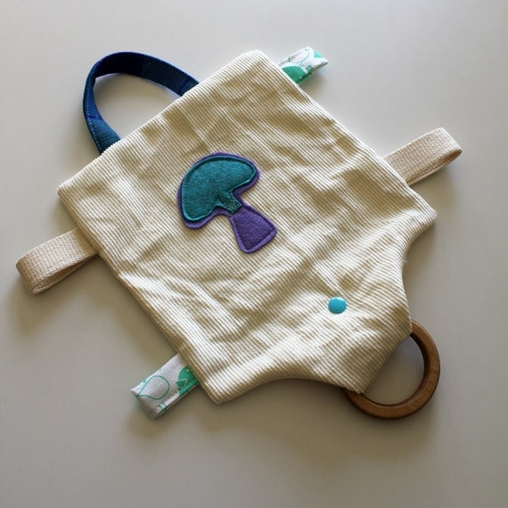 Custom Organic Hemp teething toy / Blanket