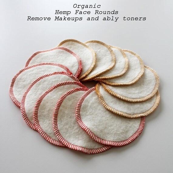 Organic Hemp/Cotton reusable Facial wipes 12 PACK