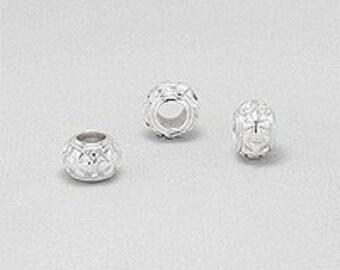 European style Bead Story Cross pattern in sterling