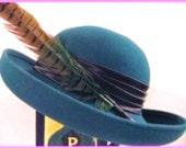 Vintage, Chic Green Michael Howard  Wool Hat