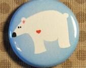Polar Bear - 1 inch Magnet