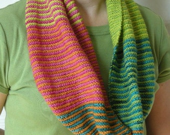 Color Block Stripes Scarf & Cowl
