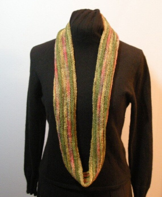 Scarf and cowl in autumn colors