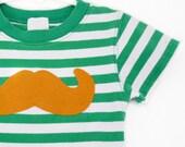 St. Patricks Day Leprechaun Mustache Baby Onesie Newborn 3m  by TrashN2Tees