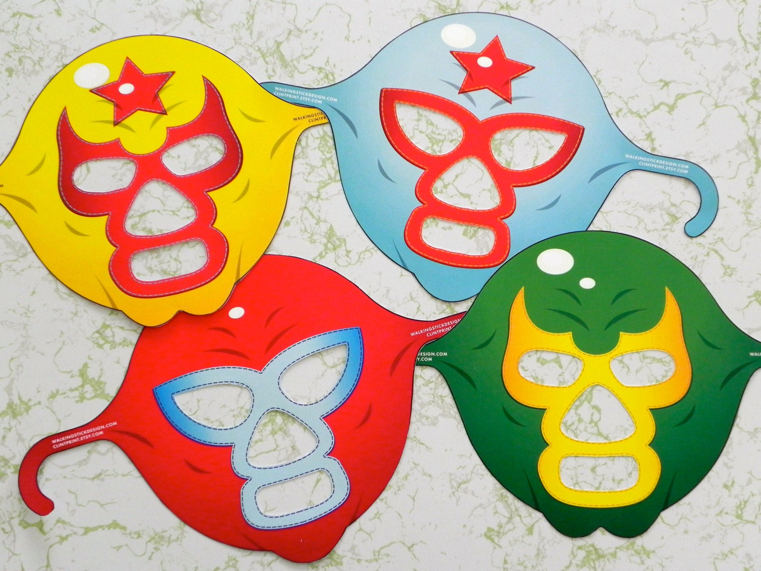 Request a custom order and have something made just for you.: www.etsy.com/listing/91117321/luchador-masks-party-set