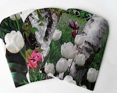 Spring Garden - Tulips and Birches - Handmade Envelopes