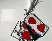 Black, White, and Red Heart Holiday GiftTags