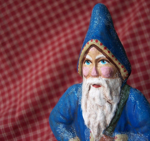 Old World Belsnickle Father Christmas Victorian St. Nicholaus Papermache