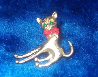 Vintage Kitty Pin with Rocking Head