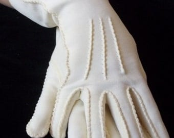 Vintage Antique White Gloves