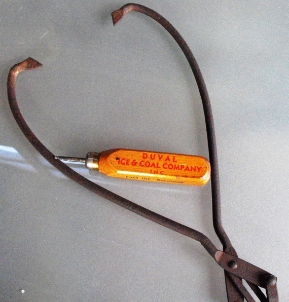 Vintage Duval Ice Pick and Ice Block Tongs