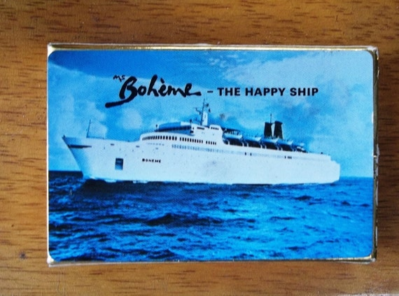 Vintage and Rare Deck of Cards from the M.S Boheme Cruise Line - The Happy Ship - Interesting History