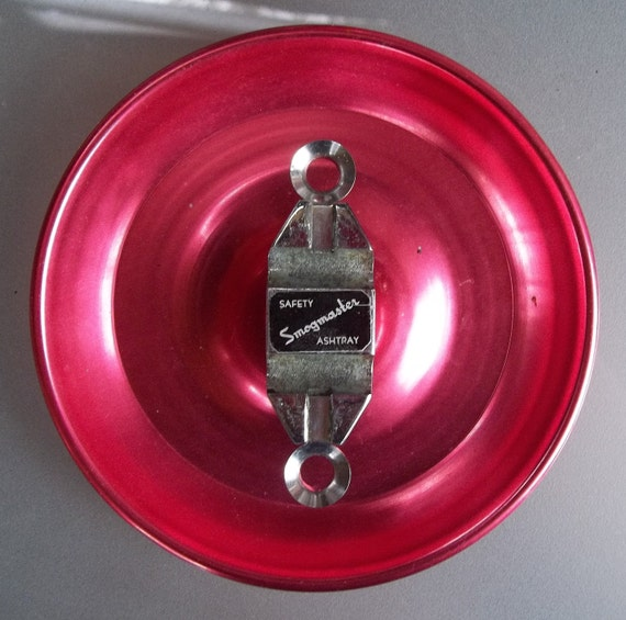 Vintage Rare Smogmaster Anodized Aluminum Ashtray