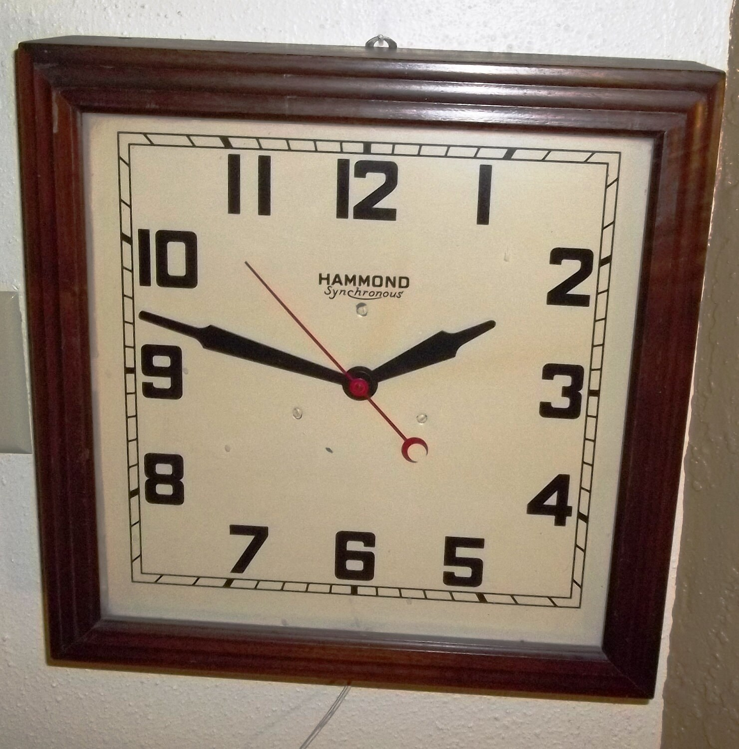 Vintage Hammond Synchronous Electric Wall Clock 1940 S Or