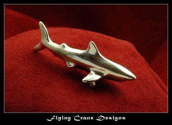 Sterling silver Great White Shark pendant