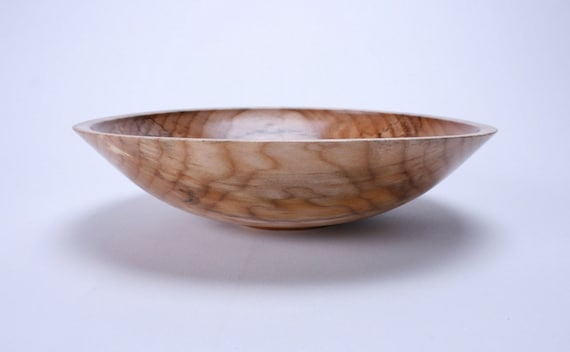 Quilted Spalted Maple Wooden Bowl 814 Handmade