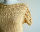 Honey Yellow Blouse Top ,Handknitted Unique Design