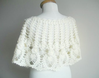 Bridal Wrap Capelet,Winter and Spring Collection,  Bridal Shawl,  Ivory Mohair Capelet, Ready to Ship, Spring Wedding