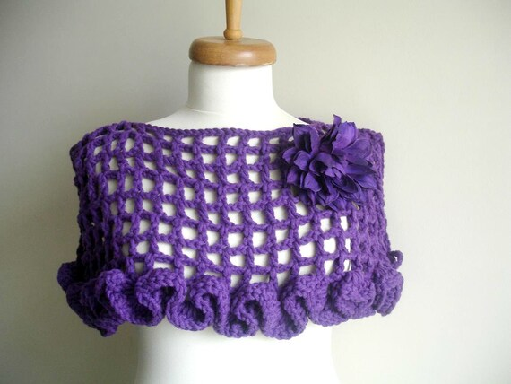 Items Similar To Wool Shrug By Crochetlab Special Design