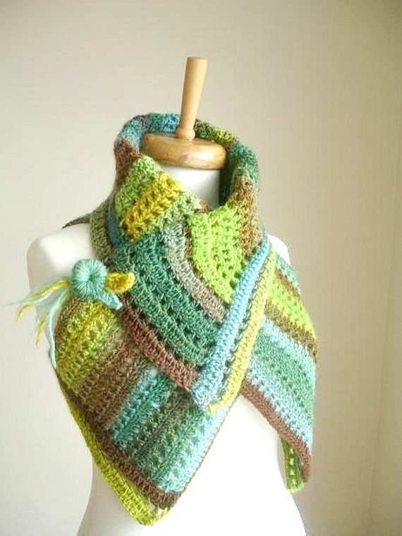 Green TWo in One Vest, Fall and Winter Collection, Pure Wool Asymmetric Vest, Green and Multicolour, Luxurious, Lux