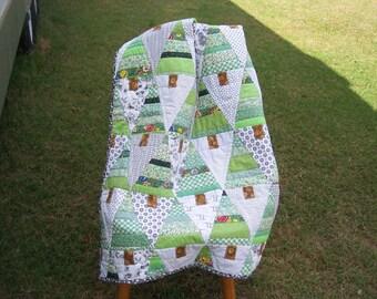 Go Green Patchwork Quilt