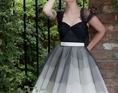 Tulle and Silk Scalloped Edged Prom Dress