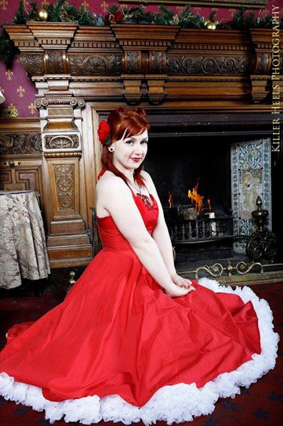 Red 1950's style dress