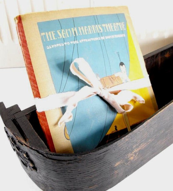 Antique Scrapbook with Theater Playbills, Photos, Ticket Stubs and MORE