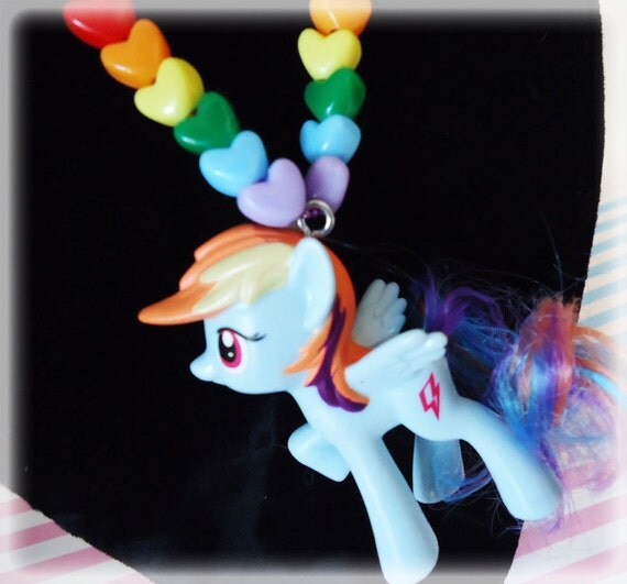 Rainbow Dash - My little Pony - Necklace on a ball chain