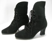 Victorian Style Black Boots 7.5