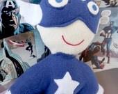 Captain America stuffed super hero action figure doll marvel comics inspired