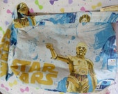 Star Wars upcycled large tote purse vintage style featuring chewbacca R2D2 and C3PO sale
